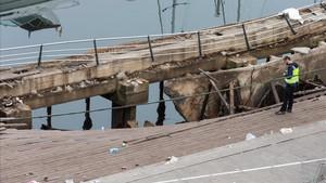 Imagen de la plataforma de Vigo tras el accidente.