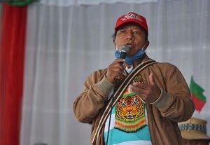 Feliciano Valencia, senador indígena de Colombia.