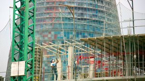 Construcción en el 22@ de Barcelona.