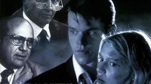 Fragmento del cartel anunciador de 'Legítima defensa', con los rostros de Danny DeVito, Jon Voight, Matt Damon y Claire Danes.