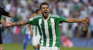 Dani Ceballos celebra un gol ante el Atlético