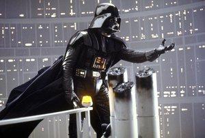 Escena donde Darth Vader se pelea con Luke Skywalker.
