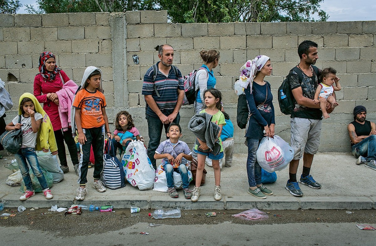 Refugiados que huyen de la guerra de Siria.
