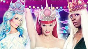 La drag queen de la Cabalgata de los Reyes Magos de Vallecas.