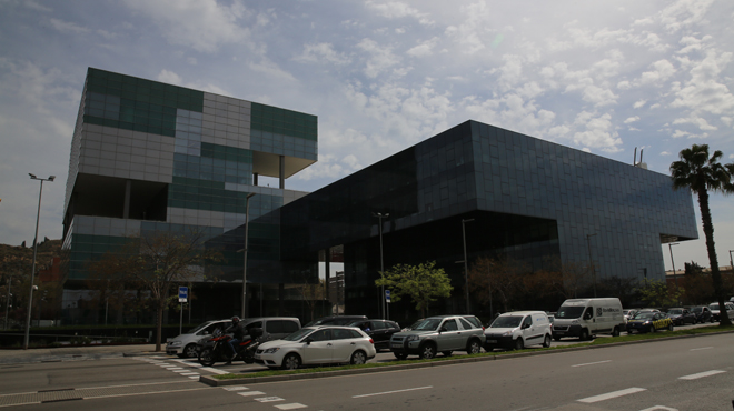 Nova seu de lAgència Tributària de Catalunya situat a la zona Franca de Barcelona.