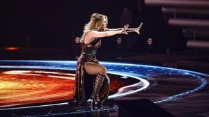 Edurne, en el segundo ensayo de Eurovisión.