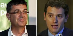 Enric Morera y Albert Rivera.