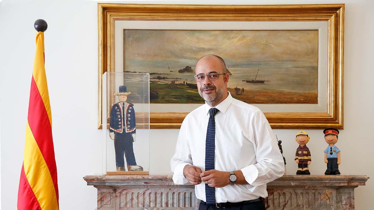 El conseller d'Interior, Miquel Buch, durante la entrevista con EL PERIÓDICO.
