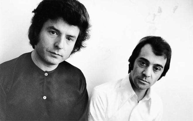 Esta foto de Enrique Morente y Pepe Habichuela la tomó Mario Pacheco para el disco que inauguró su sello Nuevos Medios.