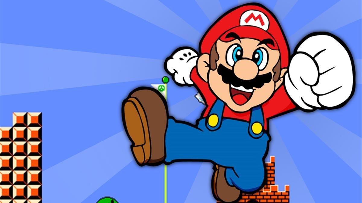 El famoso fontanero de Nintendo Mario Bros.