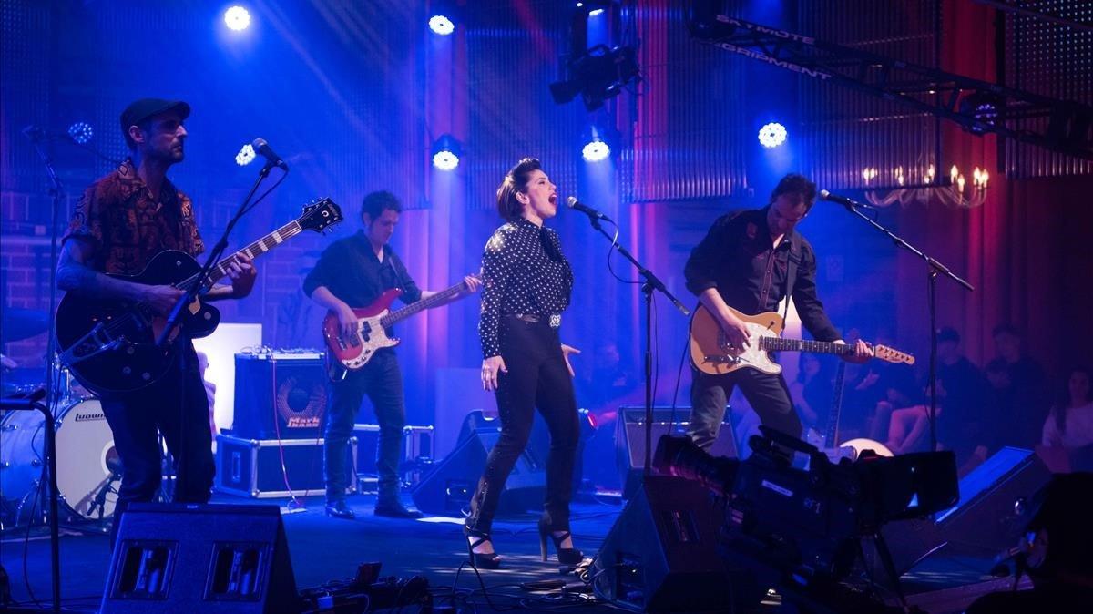 La banda de rock Flamingo Tours, en el programa 'Músics', de La 2.