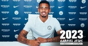 Gabriel Jesus, en el Manchester City, hasta el 2023.