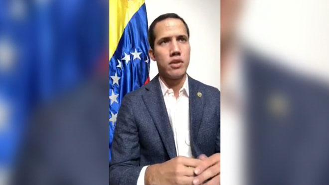 Guaidó asegura que Maduro pretende disolver el parlamento este lunes.