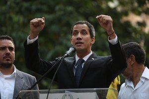Juan Guaidó,jefe del Parlamento y autoproclamado presidente interino de Venezuela.