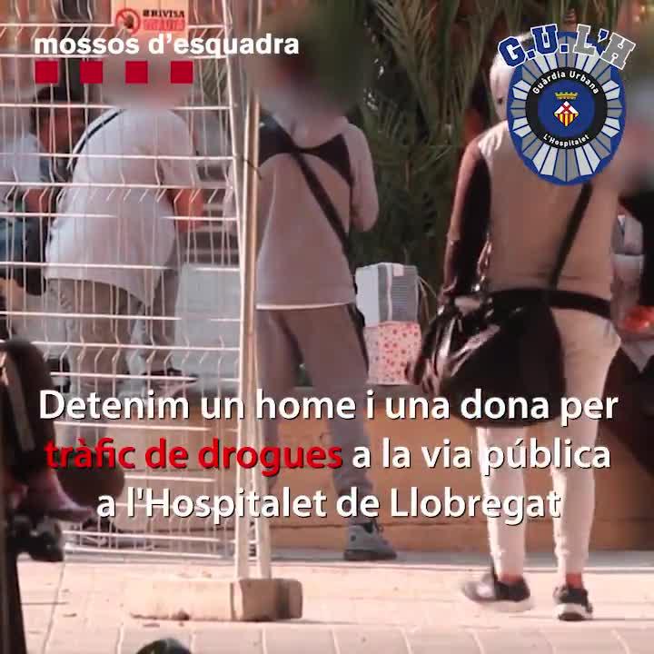 Guardia Urbana y Mossos dEsquadra detienen a dos personas por tráfico de drogas en Hospitalet
