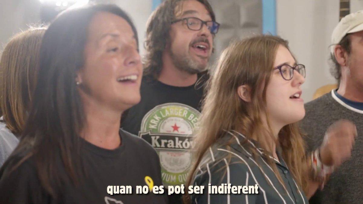 Imagen del vídeo 'La força de la gent', de Tsunami Democràtic.