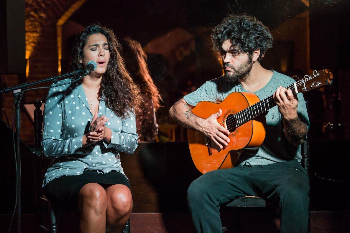 Alba Molina y Joselito Acedo abrieron ayer el ciclo en El Paraigua.