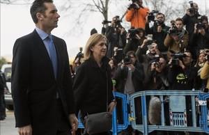 Iñaki Urdangarin y la infanta Cristina llegan a la Audiencia de Palma para acudir al jucio del caso Nóos, el pasado 9 de febrero.