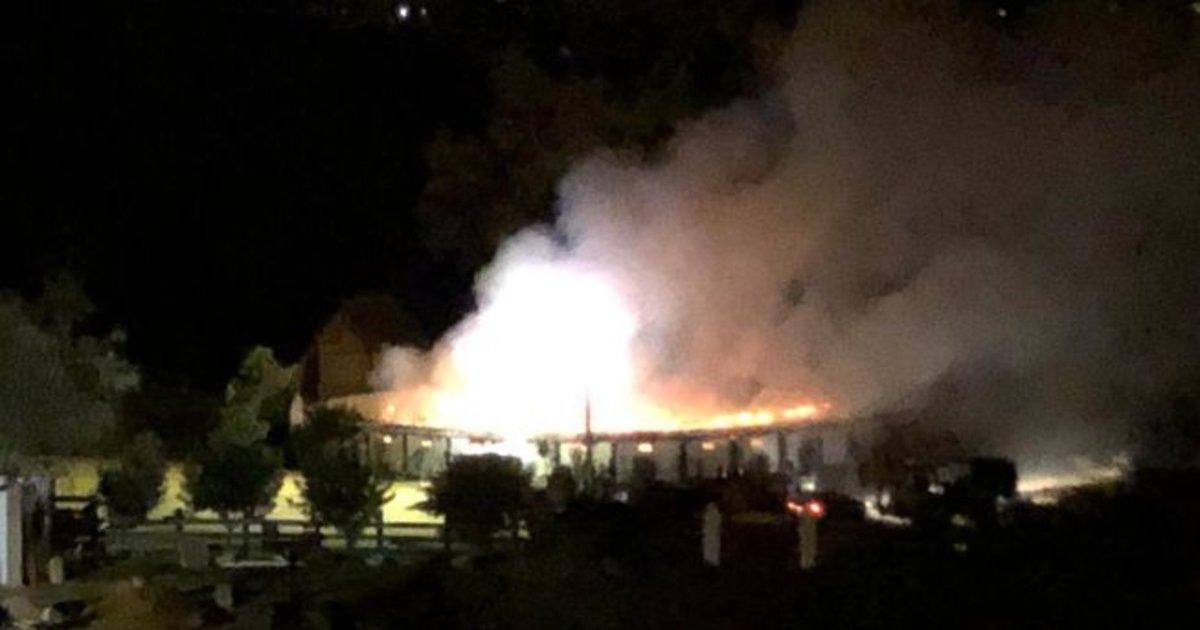 Incendio en la finca de Morante de la Puebla.
