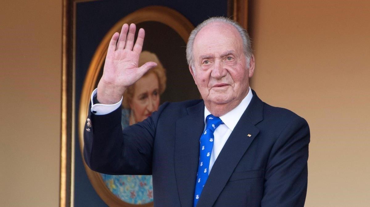 El rey emérito Juan Carlos I, enla plaza de toros de Aranjuez, en junio del 2019.