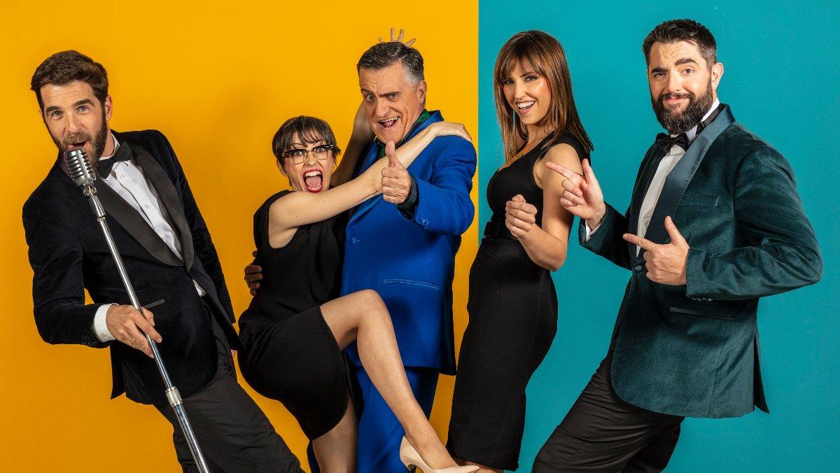 El equipo del programa de La Sexta 'El intermedio'. Gonzo, Thais Villas, Wyoming, Sandras Sabatés y Dani Mateo.