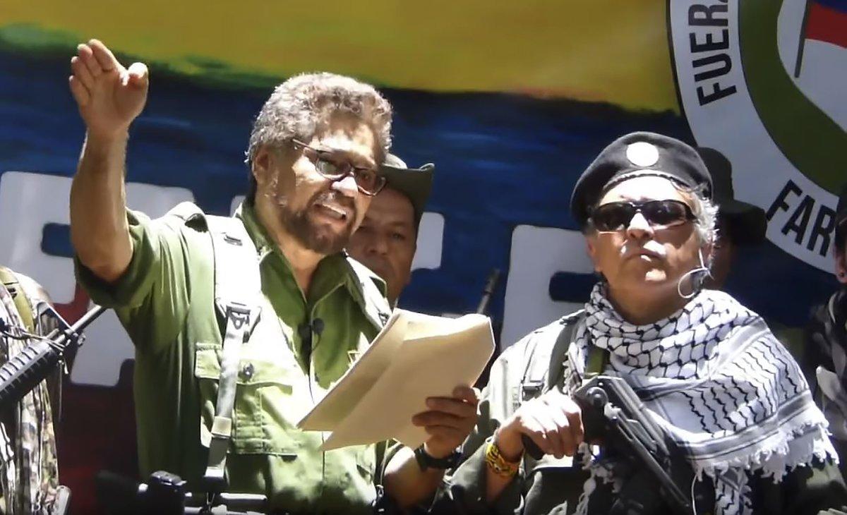 Los disidentes de las FARC, Iván Márquez y Jesús Santrich regresaron a las armas.