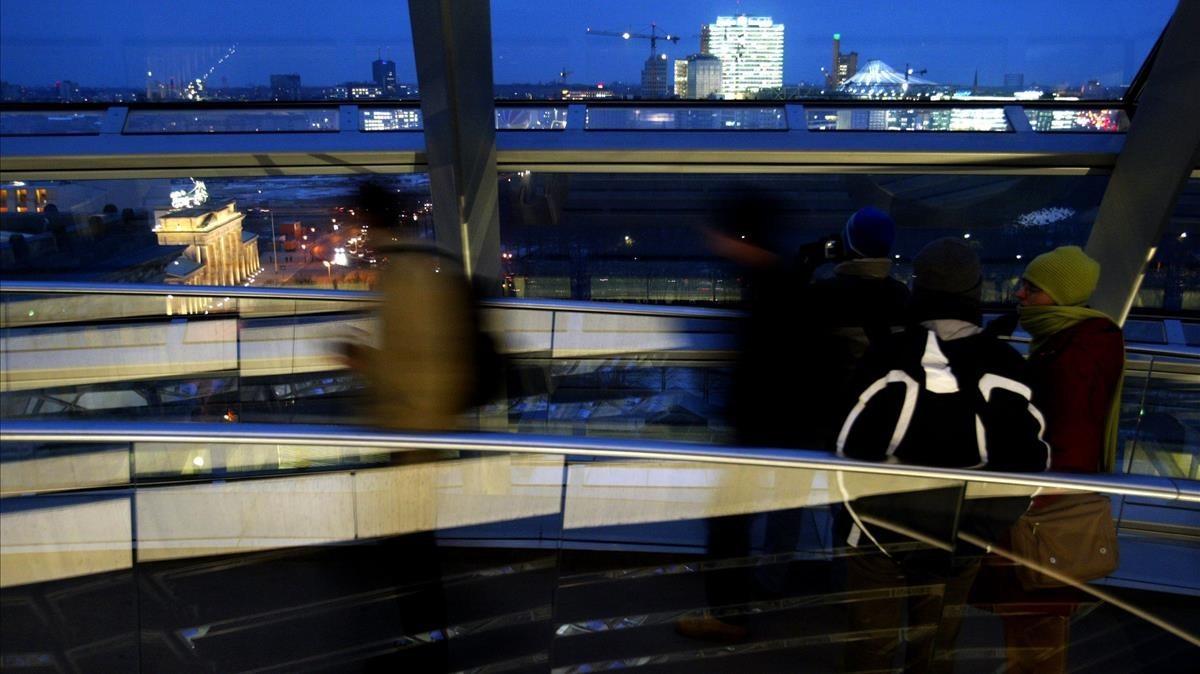 Vista de Berlín desde el Reichstag.