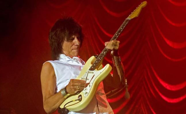 Jeff Beck, en un concierto en el Palau de la Música del 2009.