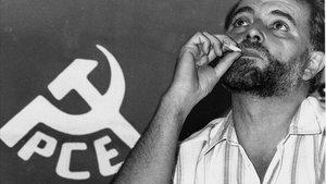 Julio Anguita, en septiembre de 1989, un mes antes de su primer combate electoral como candidatode IU en las elecciones generales.