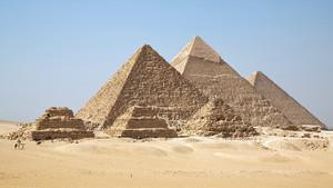 Las pirámides de Guiza, en Egipto.