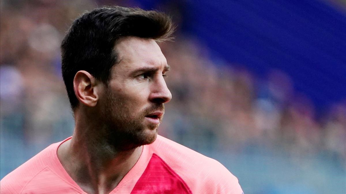 Leo Messi, durante el partido contra el Eibar.