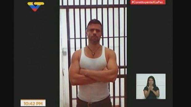 Imágenes de la detención del opositor Leopoldo López.