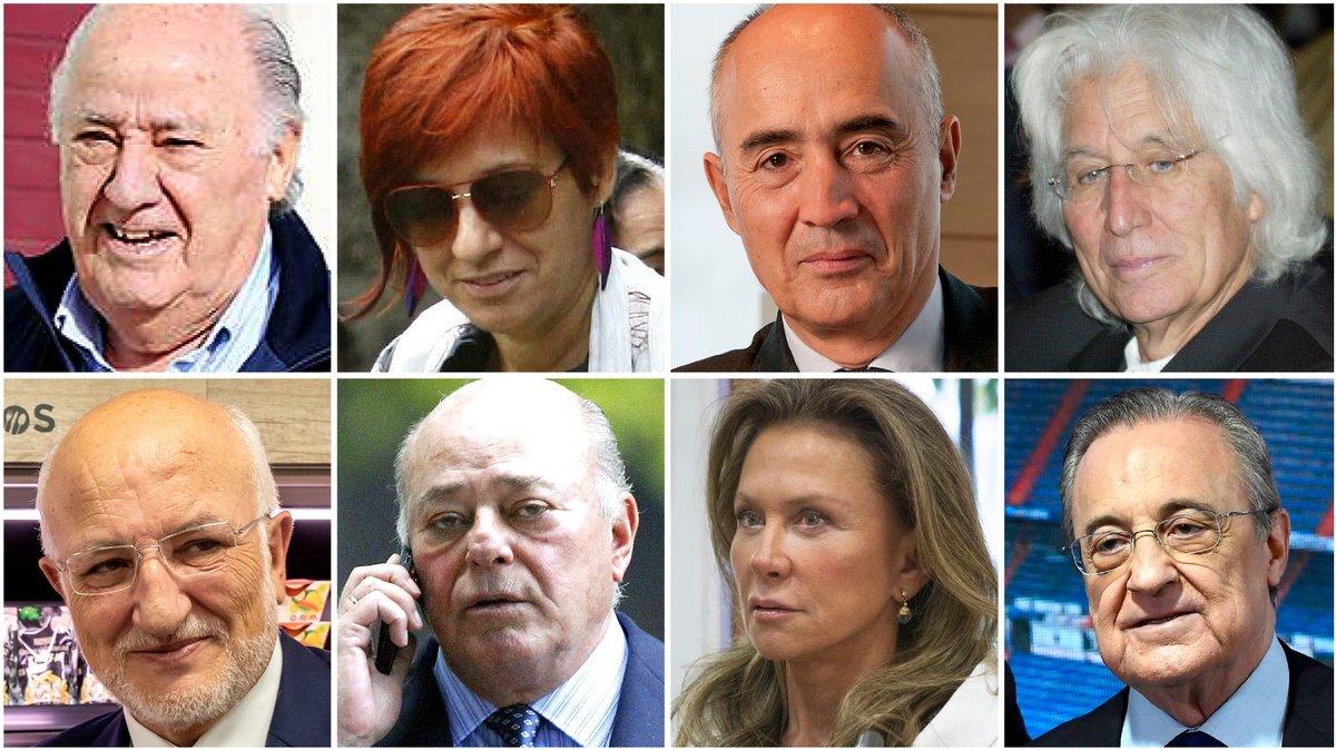 La lista de los 100 españoles más ricos