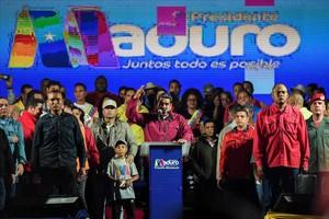 Maduro celebra la victoria.