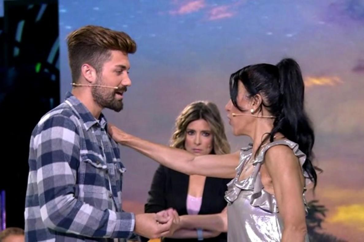 Maite Galdeano reaparece en el plató de 'Supervivientes' y se enfrenta a Alejandro Albalá y la madre de Hugo