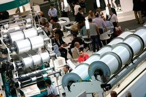 Maquinaria textil expuesta en Barcelona en la edición de la Itma que se celebró en el 2011 en el recinto ferial de Gran Via.