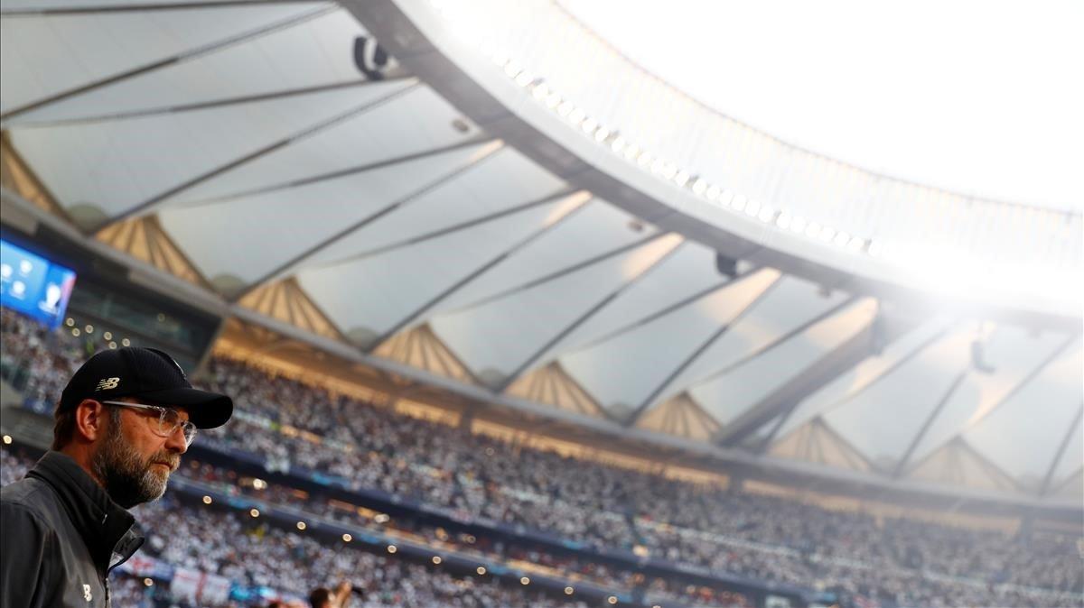 El Wanda Metropolitano, durante la final de la Champions League.