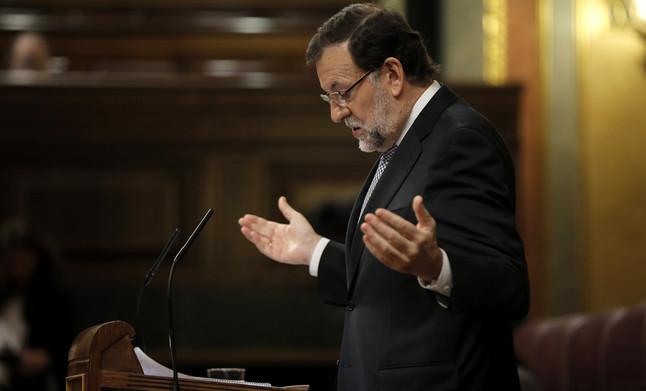 Mariano Rajoy, durant la seva intervenció en el debat.