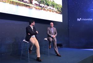 Martín Villa y Patrick López, en la presentación del MWC.