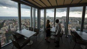 Dos personas en un hotel de la cadena Melià, en Barcelona.