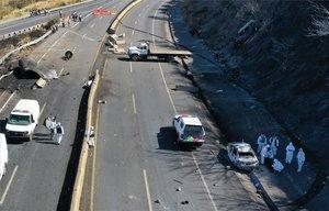 Accidente en una carretera de México.