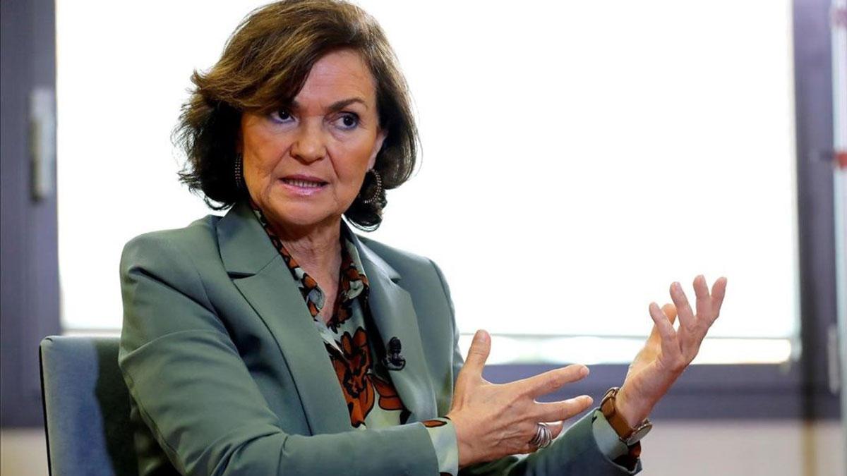La ministra Carmen Calvo, positivo por coronavirus.