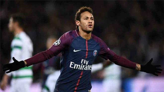 Neymar celebrando un gol con la camiseta del PSG