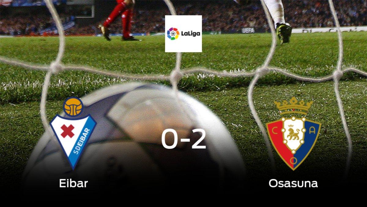 Osasuna consigue los tres puntos después de ganar 0-2 al Eibar