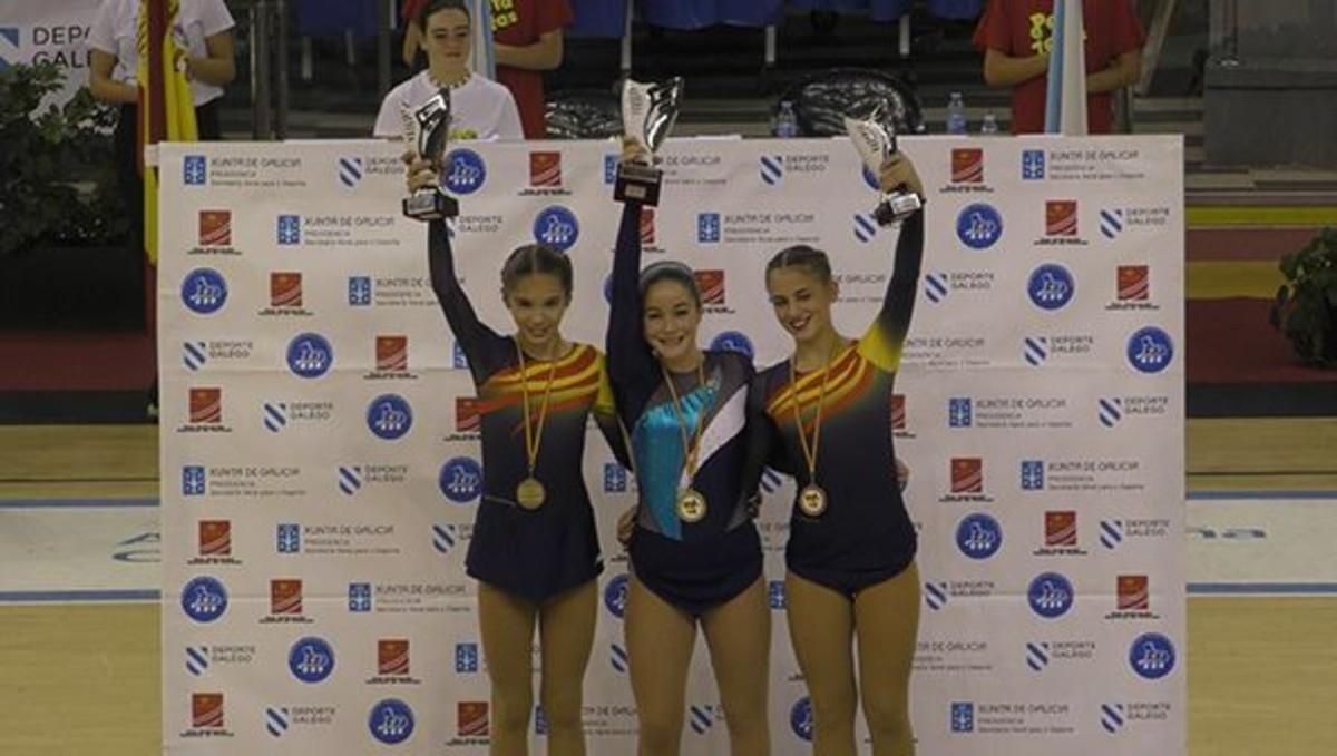 Aina Martín, tercera en el Campionatinfantil dEspanya de patinatge.
