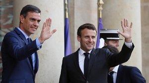 Pedro Sánchez y Emmanuel Macron, en la Moncloa el pasado mayo.