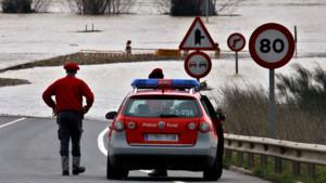Imagen de archivo de una patrulla de la Policía Foral de Navarra.