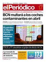 La portada de EL PERIÓDICO del 17 de septiembre del 2019.