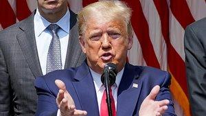 El presidente de EEUU, Donald Trump, durante una rueda de prensa en la Casa Blanca.