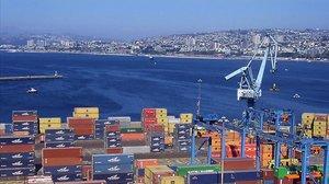 El puerto de Valparaíso.